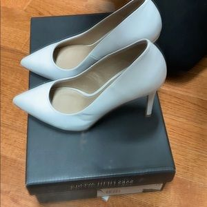 SAKS FIFTH AVENUE Classic White Pumps
